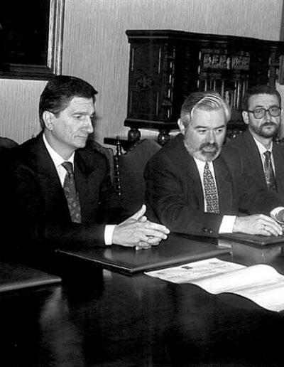 Acto sinatura convenio de colaboración da USC e os Ilustres Colexios de Avogados e Procuradores